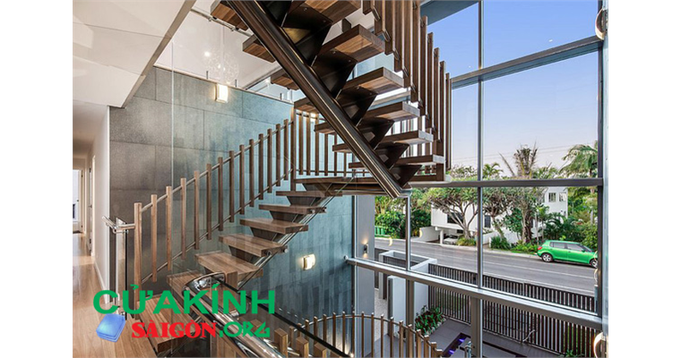 Mẫu cầu thang gỗ đẹp, hiện đại, sang trọng cho mọi gia đình