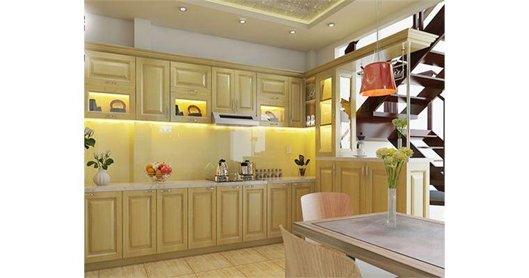 Kính ốp tường bếp thêm phần sang trọng cho căn bếp gia đình bạn.