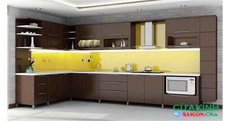 Thi công lắp đặt kính bếp nhà bè sang trọng chất lượng