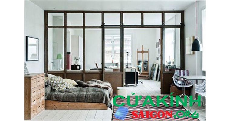 Vách kính gỗ - Lựa chọn hoàn hảo cho sự hiện đại của ngôi nhà