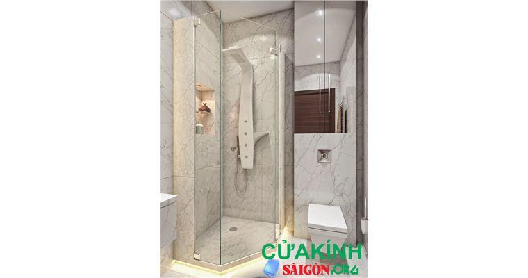 Nên sử dụng mẫu vách tắm kính nàocho chung cư nhỏ khoảng 40m2 ?