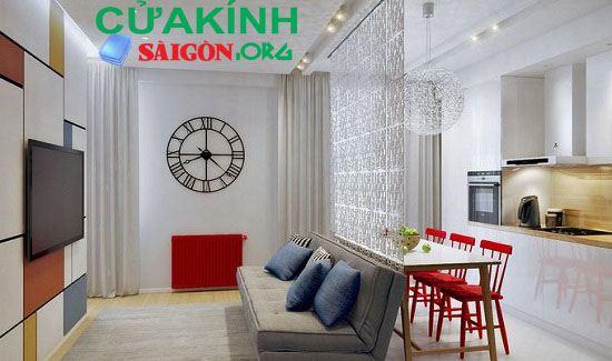 Ngăn phòng tạo không gian riêng cho những ngôi nhà có diện tích hẹp