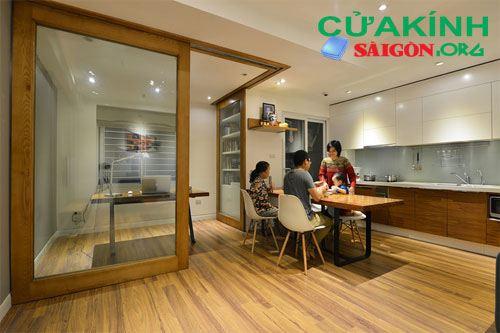 Ngăn phòng riêng biệt mà vẫn tạo không gian cho gia đình