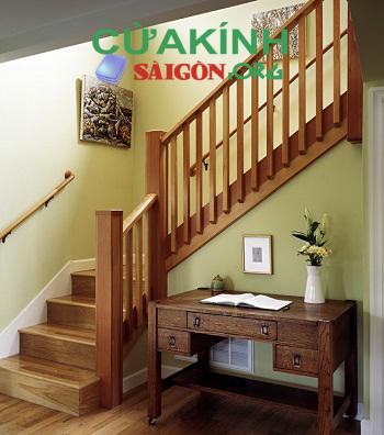 Những mẫu tay vịn cầu thang gỗ đẹp phổ biến hiện nay